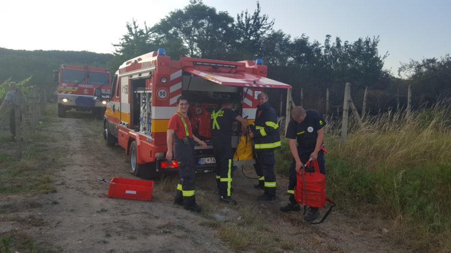 Požiar viníc na Kadnárovej ulici v Bratislave