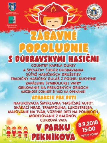 Pozvánka na Zábavné popoludnie v parku Pekníkova